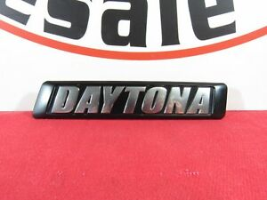 Dodge Charger Chrome Black Front Grille Daytona Badge New Oem Mopar