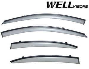 For 06 11 Hyundai Accent Sedan Wellvisors Side Window Visors W Black Trim