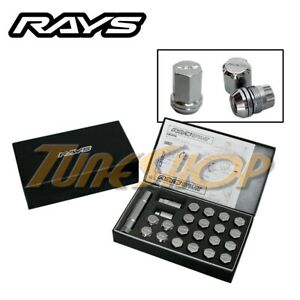 Rays Volk Racing 19hex Double Lock Lug Nuts 12 X 1 25 Acorn Wheel Rim Chrome N