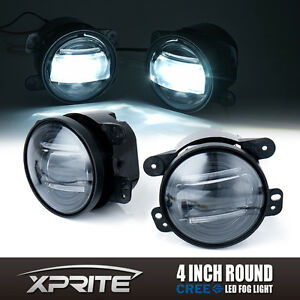 60w 4 Inch Cree Led Fog Light Driving Lamp Drl 2007 2017 Jeep Jk Wrangler Cj Tj
