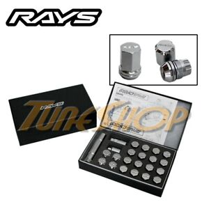 Rays Volk Racing 19hex Double Lock Lug Nuts 12x1 5 1 5 Acorn Wheel Rim Chrome H