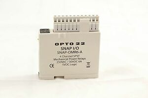 Opto 22 Snap omr6 a Isolated 4 channel Mechanical Power Relay Output Module