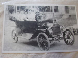 Ford Model T Early Touring Car All Seats Full 11 X 17 Photo Picture