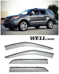 For 11 Up Ford Explorer Wellvisors Side Window Visors W Black Trim