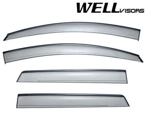 For 07 14 Ford Edge Wellvisors Side Window Visors W Black Trim