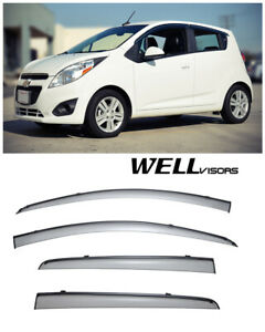 For 13 15 Chevrolet Spark Wellvisors Side Window Visors W Black Trim