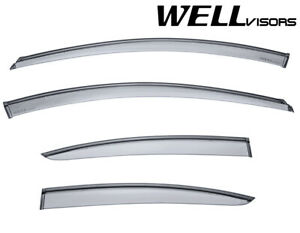 For 11 15 Chevrolet Cruze Sedan 4dr Wellvisors Side Window Visors W Black Trim