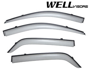 For 04 10 Kia Sportage Wellvisors Side Window Deflectors Visors W Black Trim