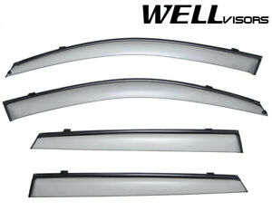 For 11 15 Kia Sorento Wellvisors Side Window Deflectors Visors W Black Trim