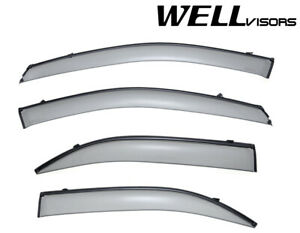 For 03 09 Kia Sorento Wellvisors Side Window Deflectors Visors W Black Trim