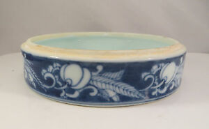 Vintage Blue White Chinese Porcelain Bowl Container Bottom China
