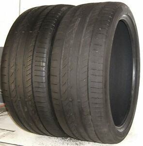 Used Pair Continental Tires 275 35r21 Contisportcontact 5p Xl 103y 2753521