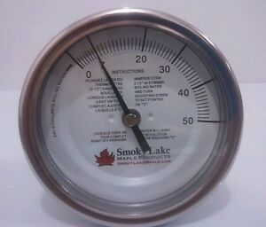 Maple Syrup Thermometer 5 Dial 12 Stem 0 50 Pan Mounted 1 4 Npt Boiling