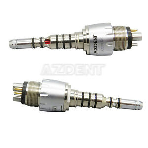 2 X Dental Lab Led Multiflex Quick Coupling 360 For Kavo Fiber Optic Handpiece