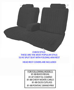 Chevrolet Monte Carlo Factory Replacement Seat Covers 1981 1988