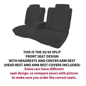 Chevrolet El Camino Monte Carlo Factory Replacement Front Seat Covers 1978 1988