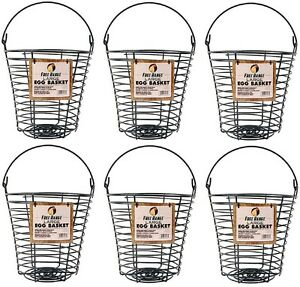 6 Harris Farms 1000268 Large Poultry Egg Collection Washing Wire Baskets