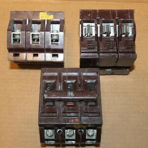 One Wadsworth Circuit Breaker 3 Pole 70 Amp C370 More Available 60 Day Guarantee