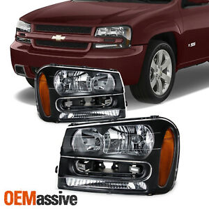 Fit 2002 2009 Chevy Trailblazer Replacement Headlights 02 03 04 05 06 07 08 09
