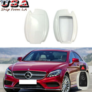 New Remote Smart Key Fob White Cover Case Skin Shell Cap For Mercedes Benz Cls