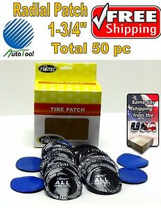 50 Pc 1 3 4in Small Round Usa Style Universal Repair Tube Radial Tire Patch