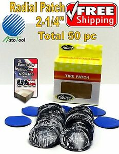 50 Pc 2 In Medium Round Usa Style Universal Repair Tube Radial Tire Patch