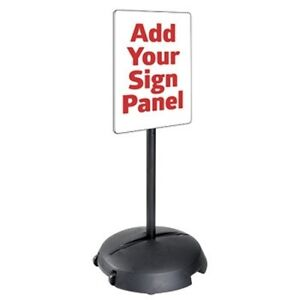Tip N Roll Portable Sidewalk Sign Stand Pedestal Base And Post Kit For Signs