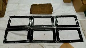 Nos Ford Model T Rear Windows Bemo Glass Curtain Lights 3 Window Set