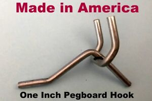 250 Pack One Inch Metal Peg Kit Garage Shelf Hanger Hooks 1 8 1 4 Pegboard