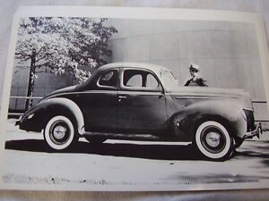 1939 Ford Deluxe Coupe 12 X 18 Large Picture Photo