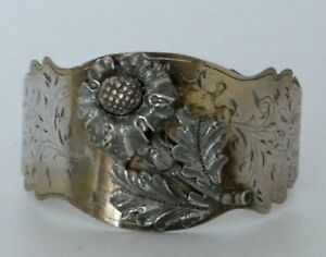 Antique Moscow Russian Imperial 875 Silver Bangle Bracelet 1854 Assay Mark