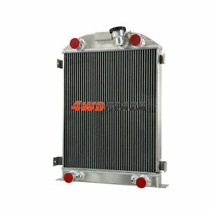 3 Row Core Aluminum Radiator For 39 40 Ford Flathead Flat Head Engine 1939 1940