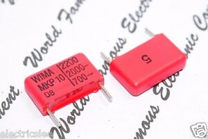 Wima Mkp10 2200p 2200pf 2 2nf 2000v 5 Pitch 15mm Capacitor