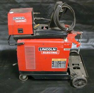 Lincoln Idealarc 3 Phase Mig Welder Cv 305 With Lf 74 Wire Feeder