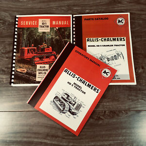 Set Allis Chalmers Hd 5 Tractor Service Parts Operators Manual Owners Catalog Ac