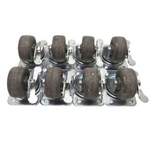 lot Of 8 Faultless E7 Black 2 5 X 1 25 Industrial Locking Swivel Casters