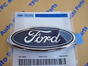 Ford Mustang Escort Rear Blue Ford Oval Trunk Decklid Emblem Oem New Genuine