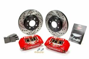 Wilwood 140 12996 Dr Forged Dpha Front Caliper And Rotor Kit Cross Drilled
