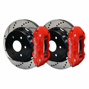 Wilwood 140 9407 Dr W4a Rear Disc Brake Kit Cross Drilled Slotted Surface