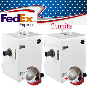 2x Usa dental Lab Collect Machine Single row Dust Collector Vacuum Cleaner 370w