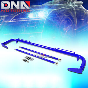 49 Stainless Racing Protection Safety Seat Belt Chassis Harness Bar Rod Blue