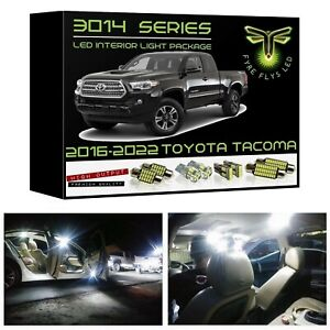White Led Interior Lights Kit Package For 2016 2021 Toyota Tacoma 3014 Smd Tool