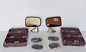 New Pair Of Side Mirrors Reproduction Of Original Mirror For Mgb 1974 80 Made Uk