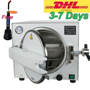 18l Autoclave Medical Steam Sterilizer Dental Lab 900w Sterilizer Equipment Usa
