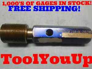 1 3 8 12 Unf 2a Before Plate Set Thread Plug Gage 1 375 Go Only P d 1 3169