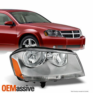 Fit 2008 2014 Dodge Avenger Chrome Clear Passenger Right Side Headlight
