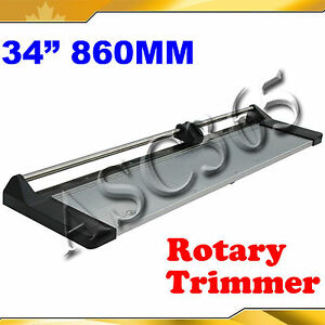 34 Safety Rotary Paper Cutter Portable Trimmer One Plastic Ruler