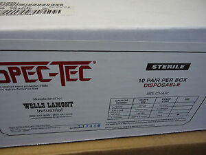 Box Of 10 Pair Wells Lamont Spec Tec Gloves M102xl Sterile Exp Date 6 2018