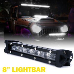 Xprite 30w 8 Single Row Led Light Bar Cree Ultra Thin Lightbar Off Road Atv 4x4