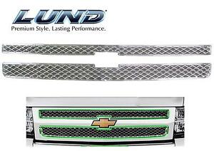 new 2007 2013 Chevy Silverado 1500 Chrome Snap On Grille Overlay Grill Cover